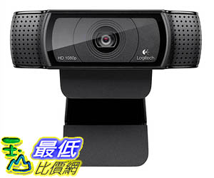 [美國代購] Logitech HD Pro Webcam C920, Widescreen Video Calling Recording, 1080p Camera, Desktop