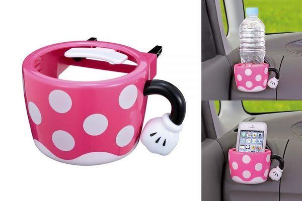 車之嚴選 cars_go 汽車用品【WN-28】日本 NAPOLEX Disney 米妮 可愛造型 冷氣出風口夾式 杯架 飲料架
