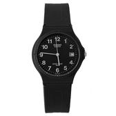 CASIO卡西歐經典基本款手錶 沉穩全黑中性款腕錶 升級日期窗設計【NE1605】原廠公司貨