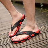 夏季人字拖男士個性沙灘鞋夾腳按摩托鞋男潮夏天防滑涼拖鞋男室內