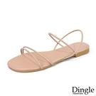 Dingle丁果ღ歐美露趾一字細帶馬卡色系平底涼鞋(二色35-41)