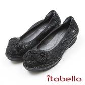 ★2017秋冬新品★itabella.璀璨耀眼水鑽羊皮包鞋(7588-91黑色)