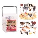 美國 TERRA 鄉村世界(情境桶)動物玩具