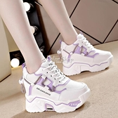 拼色老爹鞋子女2010年新款季厚底ins潮百搭內增高休閒運動鞋 快速出貨