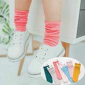 純色細條天鵝絨堆堆襪 直板襪 女童 兒中筒襪 橘魔法 Baby magic 現貨 童裝