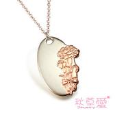 《 SilverFly銀火蟲銀飾 》秋草愛-康乃馨系列-純銀刻字項鍊