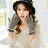 手套 韓版可愛手套加絨加厚保暖分指可觸屏手套 Ifashion