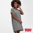 Levis 女款 長版條紋洋裝短Tee / 迷你Logo刺繡布章