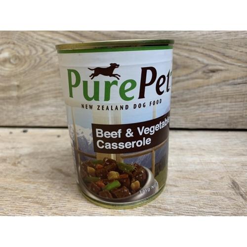 【培菓寵物48H出貨】PurePet 狗罐頭 牛肉&蔬菜口味 375公克 單罐 狗罐頭