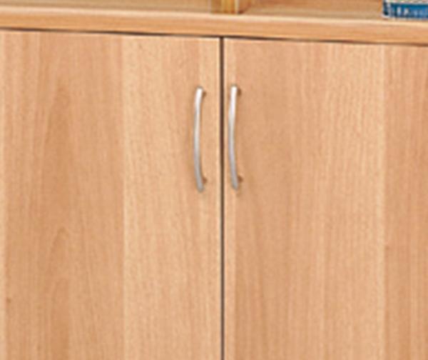 HY-574-101   白胡桃色六段玻璃雙門櫃(08029)-附三片活動板 四片玻璃.移動板32MM間距.多孔式設計