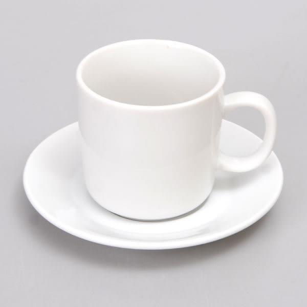 日本製 白色咖啡杯盤組 7.5cm /5-58