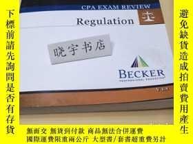 二手書博民逛書店CPA罕見EXAM REVlEW RegulationY181614
