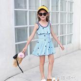 女童泳衣中大童兒童少女款韓版連身保守中小學生女孩溫泉游泳裝  ◣歐韓時代◥