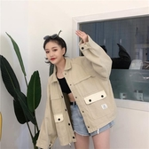 牛仔外套潮原宿風女學生韓版工裝夾克春秋新款寬鬆 - 風尚3C