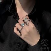 食指指環戒指女時尚個性開口戒簡約嘻哈【小酒窝服饰】