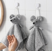 兒童手帕 廚房掛式擦手巾衛生間小加厚卡通手帕可愛吸水兒童搽手巾毛巾【快速出貨八折搶購】