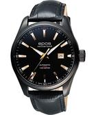 epos Passion系列都會時尚機械腕錶-黑x玫塊金時標 3401.132.25.19.25FB