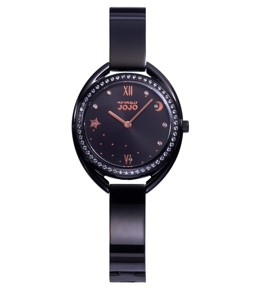 NATURALLY JOJO 黑色星月 JO96971-88F 石英錶