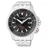【南紡購物中心】【CITIZEN】Eco-Drive星際遠航 光動能時尚腕錶-45mm/黑x銀(BJ7071-54E)