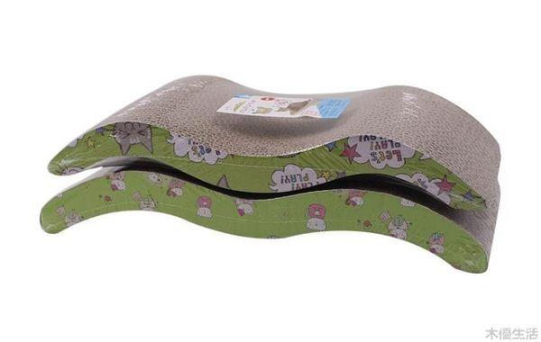 貓咪用品瓦楞紙貓爪板貓墊逗貓玩具耐磨磨爪子器用品MUYOU-B295