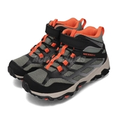 Merrell 戶外鞋 Moab FST Mid A/C Waterproof 綠 黑 女鞋 大童鞋 健走 登山鞋 【PUMP306】 MK262575