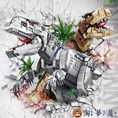 樂高積木恐龍兒童益智拼裝玩具男孩子成人高難度巨大型霸王龍【淘夢屋】