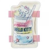 〔小禮堂〕Hello Kitty 造型果凍凝膠涼感冰敷袋《粉綠.飲料杯》涼枕.冰墊 4973307-46194