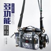 比爾傲威多功能路亞包腰包斜挎包魚竿包釣魚背包防水漁具包釣魚包