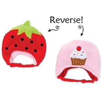 Flapjack kids雙面保暖造型帽-草莓/杯子蛋糕LUV0135[衛立兒生活館]