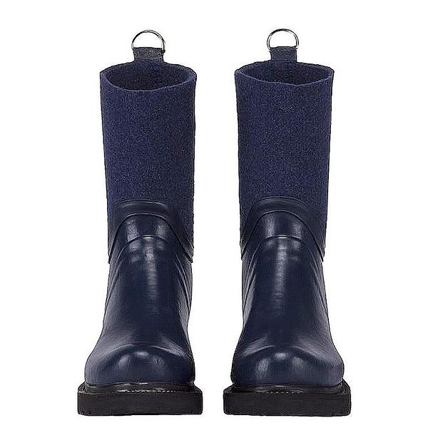 RUB53防水抗寒拼接中筒雨靴-深藍