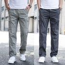 男褲子休閒褲夏季薄款直筒加肥加大碼多口袋工裝褲寬鬆運動褲男士『潮流世家』