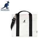 【橘子包包館】KANGOL 英國袋鼠 側背包/手提包 6025301120 黑色 帆布包