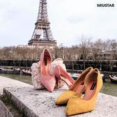★現貨★MIUSTAR 性感女神側鏤空絨面尖頭細跟鞋(共2色,36-39)【NF0455T1】