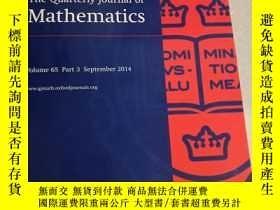 二手書博民逛書店The罕見Quarterly Journal of MathematicsY28297 The Quarter