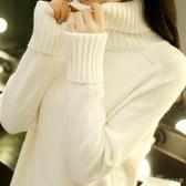 高領毛衣女秋冬新款韓版寬鬆套頭學生內搭針織打底衫加厚百搭  俏girl