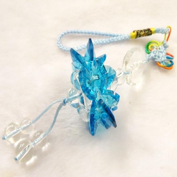 【Ruby工作坊】 NO.61S切割天空藍水晶觀音蓮花球吊飾(加持祈福)