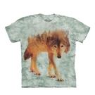 【摩達客】(現貨) 美國進口The Mountain 狼來了 純棉環保短袖T恤(10416045016a)
