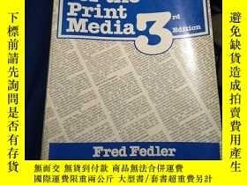 二手書博民逛書店Reporting罕見for the Print Media 看