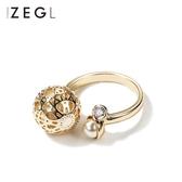 ZENGLIU日韓國開口戒指女 個性潮人食指環戒子情侶對戒可調節大小