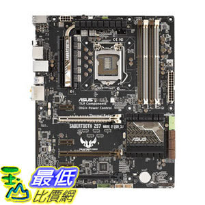 [104美國直購] 主機板 ASUS TUF SABERTOOTH Z97 MARK 2/USB 3.1 LGA1150 DDR3 SATA 6Gb/s USB3.1 Type A Intel Z97 ATX Motherboard