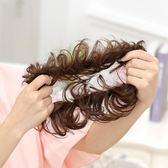 限定款假髮 韓系 真髮半丸子頭盤髮器髮飾古裝蓬鬆髮髻花苞頭假髮包捲髮圈