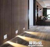 人體感應燈家用過道樓梯地腳燈嵌入式86型LED牆角燈走廊燈梯步燈ATF 韓美e站