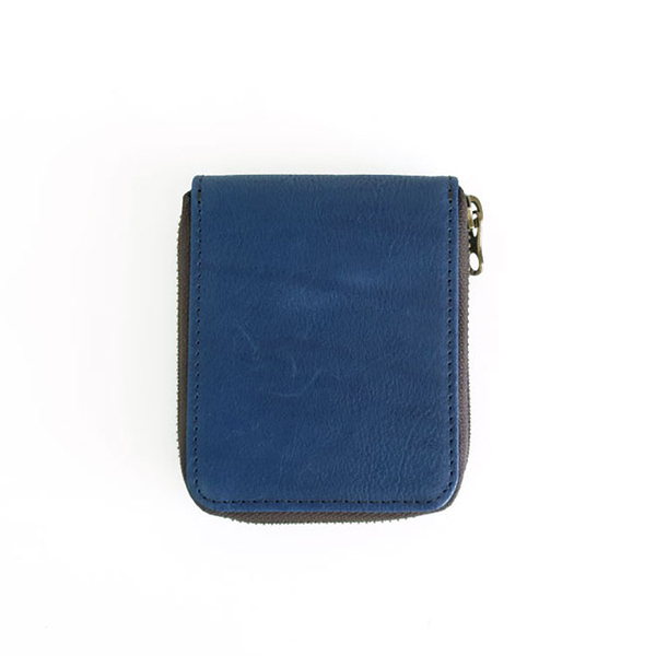 HOZAYA BLUE 守護神藍 復古感應短夾/錢包