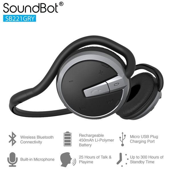 美國聲霸SoundBot SB221 藍牙4.0 運動防汗後掛式耳機