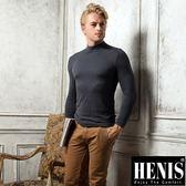 HENIS 時尚型男熱纖維彩色高領長袖上衣~3件組(4色可選)
