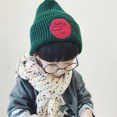 男童帽2-3-4歲兒童薄款寶寶毛線帽正韓男童女孩春秋冬季針織套頭帽子潮