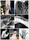 紋身貼紙紋身貼男款霸氣圖騰狼頭花臂刺青英文女防水持久梵文漢字紋身貼紙