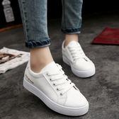 單鞋女鞋子韓版時尚學生圓頭休閒運動鞋百搭小白鞋優家小鋪