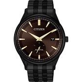 CITIZEN 星辰 光動能小秒針手錶-咖啡x黑/40mm BV1115-82X