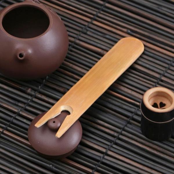 碳化竹制鐵壺蓋叉 日式茶具茶道零配件壺蓋插 壺插